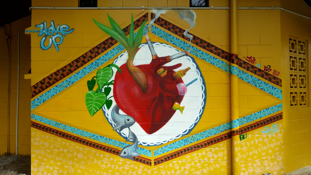 The heart - Mural painted by youth from Fiji