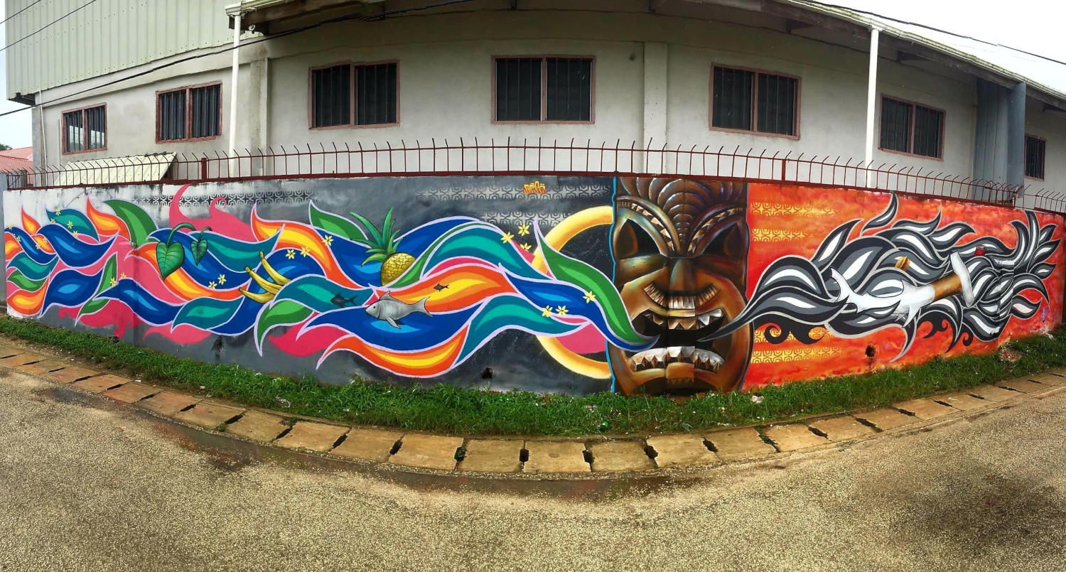 FREEDOM IS A CHOICE - Mural painted by youth from Tonga