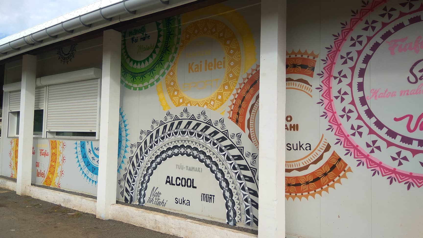Mural painted by youth from Wallis and Futuna
